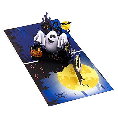 rußkarte Pumkin Ghost Pop Up Karte Kids Mom Dad Geschenke Halloween Party Supplies ()