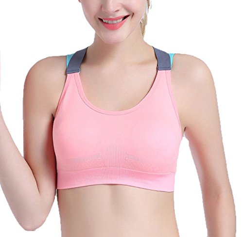 Intimo Sportivo Reggiseno Fitness Da Ginnastica Pink