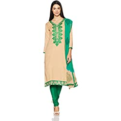 BIBA Women's Dress Material (KO AW17CHIKU GAURID_Green_FREE)
