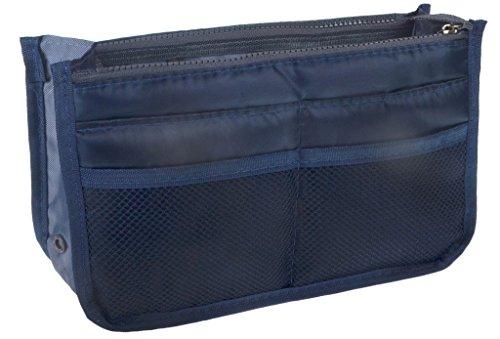 Organizer organizzatore per borsa trucco stile di modo organizzatore portafolgio portadocumenti - blu notte