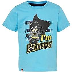 LEGO Wear Duplo Superheroes Batman Cm-50280 T-Shirt Camiseta, Turquesa (Dark Turquise 772), 92 para Bebés