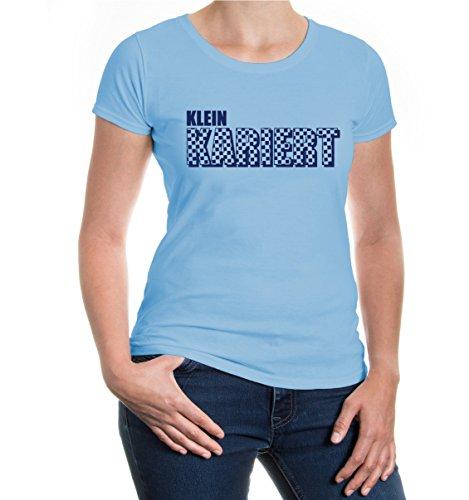 buXsbaum® Girlie T-Shirt Kleinkariert Skyblue-Navy