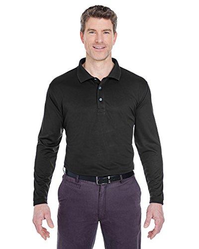 UltraClub Herren Poloshirt Schwarz