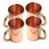 Barrel Craft Becher mit Kupfergriff, Fassungsvermögen 118 ml, massives Kupfer, klassisch, Moscow Mule