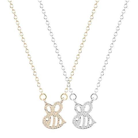 Bumble Bee Form Insekten Charm Animal Halskette Anhänger minimalistisch Jewelry Geschenk für Mädchen und Frauen 2