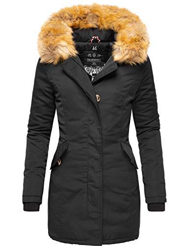 Marikoo karmaa cappotto invernale da donna xs-5xl nero xxl