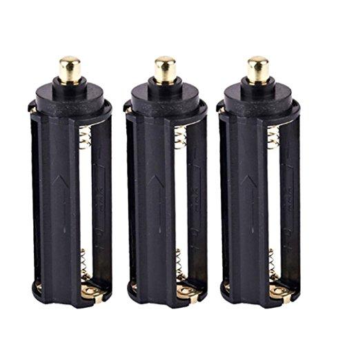 Preisvergleich Produktbild WINWINTOM 3 x 3 AAA Batterie Halter Feder Kasten Kasten für Taschenlampen Fackel Qualität