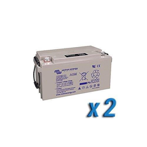 Preisvergleich Produktbild Set 2 x Batterie 90Ah 12V AGM Deep Cycle Victron Energy Photovoltaik Camper
