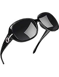 Joopin Gafas de Sol para Mujer Polarizadas de Moda Protección UV400 de Gran Tamaño Gafas de Sol para Señoras