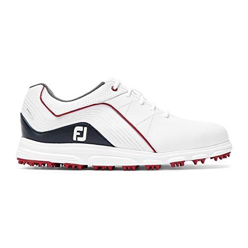 Footjoy Junior, Scarpe da Golf Bambino, (Bianco/Azul/Rojo 45028m), 35 EU