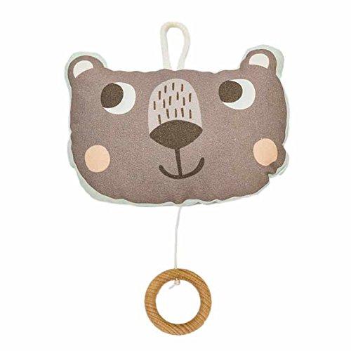 (Julica Design Spieluhr Baby | Bär | Brahms Wiegenlied | Musik zum Einschlafen für Babys | Junge & Mädchen | Schöne Melodie | Geschenk zu Weihnachten, Taufe, Geburtstag (Mint))