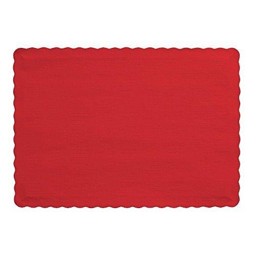 Touch der Farbe Papier Tischsets, klassisch rot rot ()