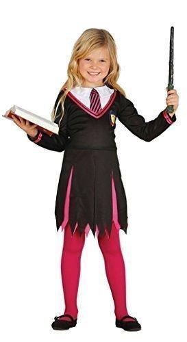 Fancy Me Mädchen rosa Zauberer Halloween TV Buch Film Schulmädchen Uniform Nerd Geek Student Kostüm Kleid Outfit 5-12 Jahre - Rosa, 7-9 years (Geek Kostüm Für Mädchen)