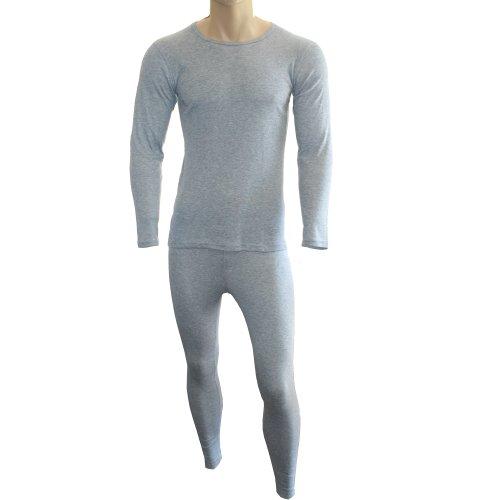 Cox Swain Thermo Men Funktionswäsche Set Hose und Langarm Shirt in bewährter Qualität, Colour: Grey, Size: L