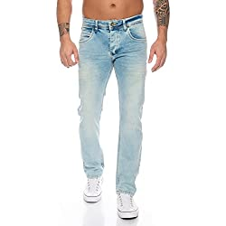 Rock Creek Hommes Jeans Bleu Denim RC-2109 [W31 L30]
