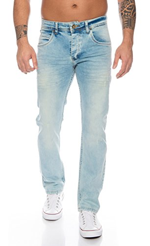 Rock Creek Herren Jeans Blue Denim RC-2109 [W34 - Lang Jeans-rock