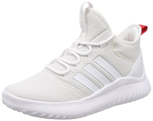 adidas Cloudfoam Ultimate Bball, Sneaker a Collo Alto Uomo Bianco (Footwear White/footwear White/core Red)