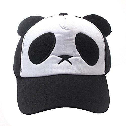 ABsolute Unisex Basecap Snapback,3D Panda Kappe Hip Hop Hut Sommer Baseballkappe Cap Lässige Mütze Sonnenhüte Einstellbare Outdoor Kappen Sportmütze (Schwarz)