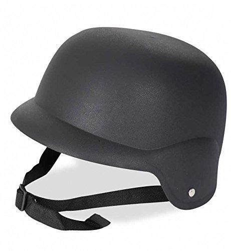 Fritz Fries & Söhne GmbH & Co Bikerhelm schwarz Kunststoff Helm Feuerwehr Zubehör Fasching Uniform Biker