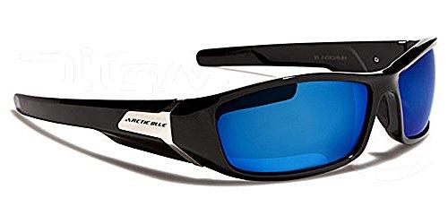 Arctic Sonnenbrillen - Sport - Radfahren - Skifahren - Fahren - Motorradfahrer/Mod. Prizm Schwarz Ice Blu Iridium Spiegel