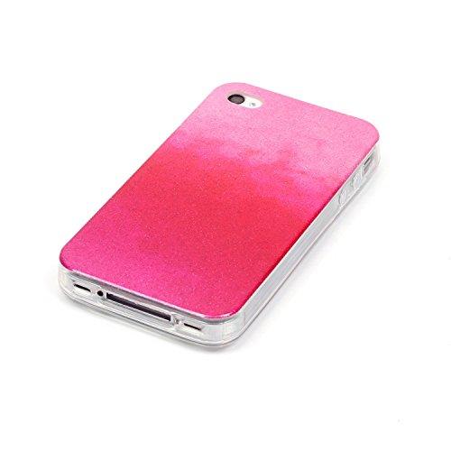 MOONCASE Ultra-thin TPU Silicone Housse Coque Etui Gel Case Cover Pour iPhone 4 4G / 4S café RougeRose