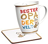 Ritzenhoff & Breker 035995 Kaffeebecher Bester Opa der Welt mit