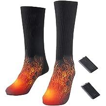 Konesky Electric Chaussettes chauffantes à Piles Chaussettes de randonnée  chauffées ... 565a2e64513