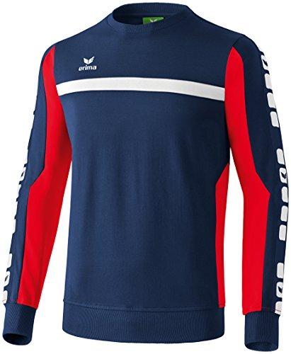 erima Herren Classic 5-C Sweatshirt, New Navy/rot, L