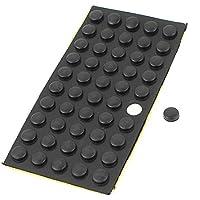 Inicio de mesa piso adhesiva de 10 mm x 4 mm mini tacos de goma negro 50 PC