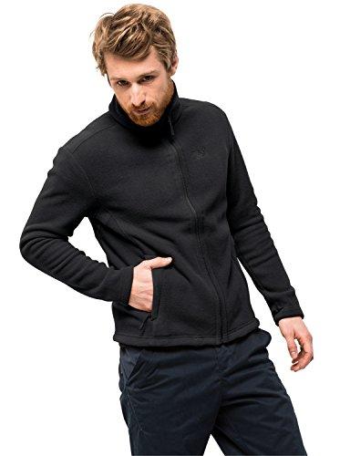 Jack Wolfskin Moonrise Jacket Men, Outdoor Jacke für Herren aus robustem & recyceltem Fleece, Fleecejacke für Herren mit Systemreißverschluss, kombinierbare Herren Jacke