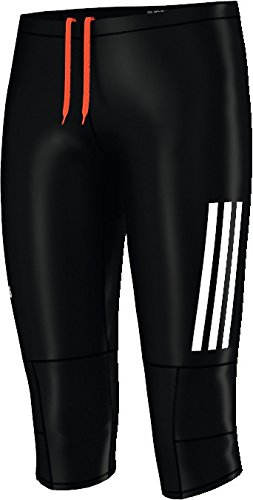 adidas Damen Laufhose Supernova Running 3/4 Tight black/reflective silver/reflective silver 140 -