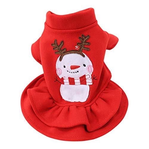 Yaohxu Herbst Winter Hunde Bekleidung Hund Kostüm Kleidung Haustier Hund Katze Weihnachts Schneemann Anzug