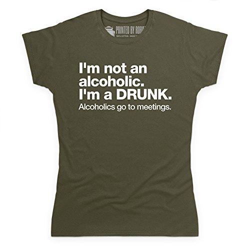 Not An Alcoholic T-Shirt, Damen Olivgrn