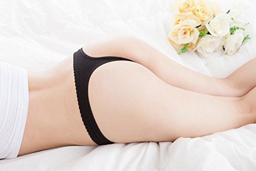 Culater® Femmes Sexy en Dentelle V-chaîne Slips Culottes Strings g-string Lingerie Sous-vêtements Noir