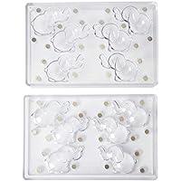 Martellato policarbonato 3d poco elefantes molde, 81 x 43 x 53 mm, transparente