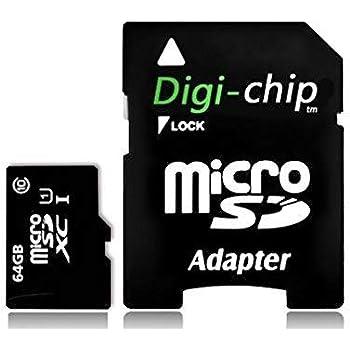 Digi Chip 64 GB Micro-SD clase 10 tarjeta de memoria para Samsung Galaxy S8, Samsung Galaxy S8 +, S8 Plus Smartphones