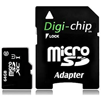 Digi Chip 64 GB Micro-SD clase 10 tarjeta de memoria para Samsung ...