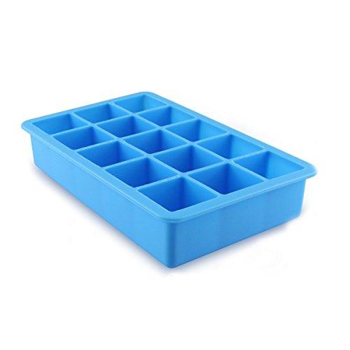 JUNGEN 15-Square cubitera hielo suave silicona Cubito de hielo bandeja