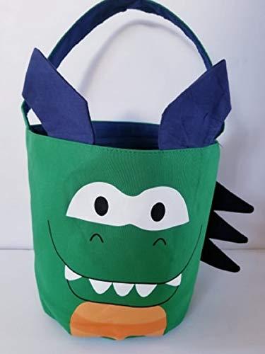 Queen of the Castle Dinosaurier-Einkaufstasche aus Segeltuch, Halloween-Tasche, Geburtstagsgeschenkkorb, Get Well Tote