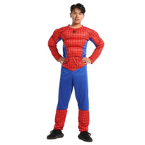YIWANGO Erwachsene Rächer Spider-Man Captain America Superman Iron Man Optimus Prime Cosplay Muskel Kleidung,Spiderman-OneSize (Prime Halloween-kostüm Erwachsene Optimus Für)