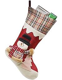 YiLianDa Calcetines De Navidad Muñeco De Nieve De Caramelo Calcetines Regalos De La Decoración Del Bolso Calcetines