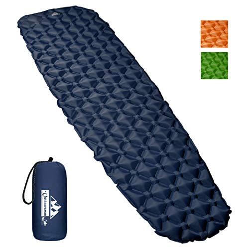 OutdoorsmanLab, Isomatte, extrem leicht, extrem kompakt–für Rucksackreisen, Camping, Urlaub mit superweichem komfortablem Luftkammerdesign, blau