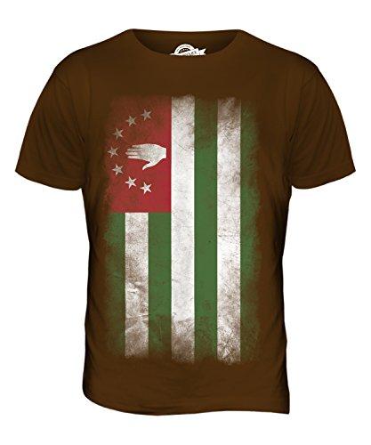 CandyMix Abchasien Verblichen Flagge Herren T Shirt Braun