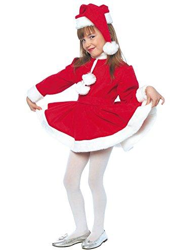 Disfraz Mama Noel Niña (8 - De 6 a 8 años)