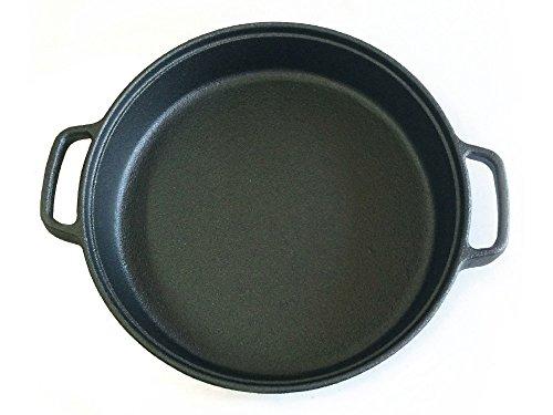Santos Grillpfanne Gusseisen Gusspfanne Pfanne Grillzubehör Guss für Gasgrill Oder Kohlegrill - Ø 33,5 cm