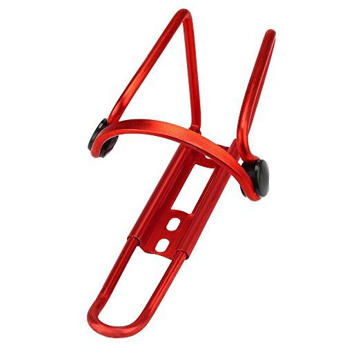 QHJ Fahrrad Radfahren Trinken Wasserflasche Rack Halter Käfige Halterung Fahrrad Zubehör (rot)