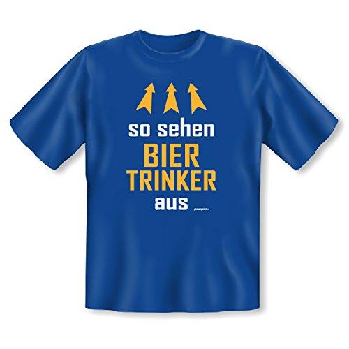 aktuelles und wichtiges T-Shirt Goodman Design® Farbe: royal-blau: : so sehen BIERTRINKER aus.... Royal-Blau