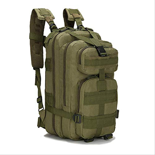 Zaini WEN FENG Backpack Tattico Militare Oxford 9 Colori 30l 3p Borse Tactical Backpack Sport All'aperto Caccia Camping Climbing Borsa Da Pesca 24 x 22 x 43 cm Verde dell'esercito
