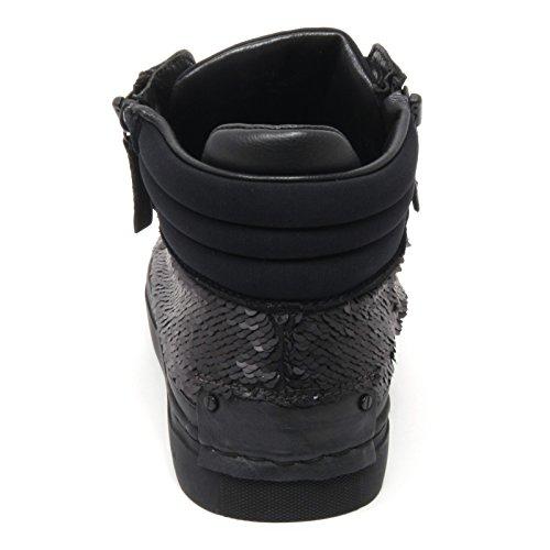 B6582 sneaker donna CRIME LONDON scarpa nero paillettes shoe woman Nero