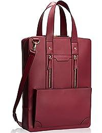 Estarer Women Laptop Bag 15.6 inch Office Briefcase PU Leather Work Satchel Handbag Large
